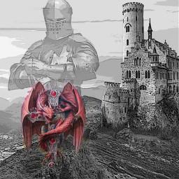 fairytale magic dragon excalibur castle kight myimagination myedit freetoedit