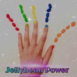 fun jellybeans power superhero awesome red green yummy yellow blue orange rainbow hand nailvarnish bright vividcolors freetoedit