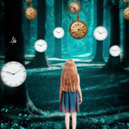 freetoedit forestbackground forest girl time