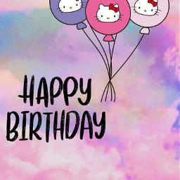 freetoedit balloon balloons happy birthday happybirthday hellokitty hellokittyballoon background wallpaper birthdaycard glückwunschkarte vorlage birthdaybackground echappybirthdayhellokitty happybirthdayhellokitty hbdhellokitty