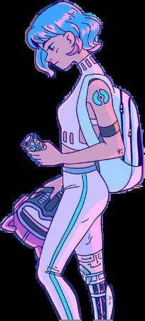 chica girl chicamala badgirl chicamala😈 badgirl😈 anime animegirl anime_girl kawaiigirl kawaii motogirl kawaiicute animes azul rosa blue pink girlpower chicatumblr chicagamer freetoedit