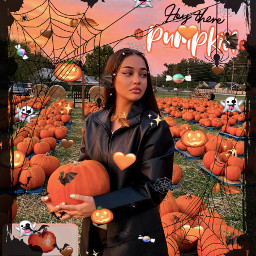 pumpkin pumpkins orangeaesthetic isabelrose isabellrrose isabel autumnaesthetic halloween 31stoctober october lastdayofoctober spookyseason spookyedit pumkinaesthetic freetoedit
