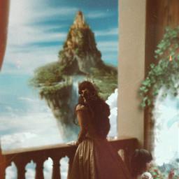 castle kingdom girl magic fantasy fantasyart imagination nature freetoedit