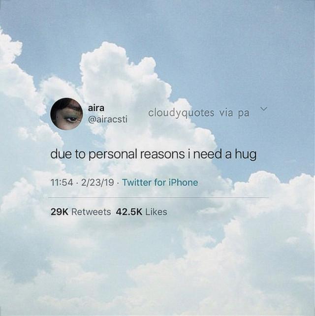 zoǝʎ loʌǝs ʎon ⁀ᜊ🥽₊˚◞ 。゚•┈୨☁️୧┈•゚。  ᝰ🛩 ⌇ ғᴄ :: 2,398 🖇ᝰ ⌇ ᴅᴀᴛᴇ :: 11/02/20 ᝰ⛲️ ⌇ ᴍᴏᴏᴅ :: 🥱🥺🤧 🏔ᝰ ⌇ ᴡᴇᴀᴛʜᴇʀ :: ✨ 。゚•┈୨☁️୧┈•゚。  ᝰ📑 ⌇ ᴄᴀᴘᴛɪᴏɴ :: it's ok to need a hug or to be sad or to not be ok. just remember what matters is that you get up after falling down. also sorry for not posting in a while, I've been busy and also just kinda not feelin' it, u know? 🛒ᝰ ⌇ ɪɴsᴘᴏ :: that one person I want a hug from- but they are fictional 🤭 ᝰ🎐 ⌇ ᴄʀᴇᴅɪᴛs :: @koolaidkleinman for the tweet and rebloggy for the image  🥼ᝰ ⌇ ᴇᴅɪᴛ ᴛʏᴘᴇ :: tweet + photography  。゚•┈୨☁️୧┈•゚。  ᝰ📘⌇ ᴇᴅɪᴛ ᴀᴄᴄ :: @clqudfuhl 🥄ᝰ ⌇ ᴄᴏʟʟᴀʙ ᴀᴄᴄ :: @are-you-sirius ᝰ🔬 ⌇ ʀᴇᴍɪɴᴅᴇʀs :: ily, love yourself, you matter, you are valid, if you have nothing nice to say don't say it at all, all lives can't matter until everyone is treated equally, and treat everyone with respect 🍶ᝰ ⌇ ᴀɴɴᴏᴜɴᴄᴇᴍᴇɴᴛs :: new edits up on @clqudfuhl if you haven't seen already :) I tried doing a new style, also I may or may not have a secret acc, that has been active for over a week now 👀🤔 。゚•┈୨☁️୧┈•゚。  ʚ sᴀʏ ʜɪ ᴛᴏ ᴍʏ ᴘᴇᴛ ᴛᴜʀᴛʟᴇ ᴀʀɴᴏʟᴅ 🐢 ɞ  ʚ ᴄᴀɴ sᴏᴍᴇᴏɴᴇ ғᴇᴇᴅ ʜɪᴍ ᴘʟs? ɞ  ˗ˏˋ 🍞 ˎˊ- ʚ ᴘʜɪʟʟɪᴘ ɪs ᴀʀɴᴏʟᴅ's ғʀɪᴇɴᴅ, ᴅᴏɴ'ᴛ ғᴏʀɢᴇᴛ ᴛᴏ sʜᴏᴡ ʜɪᴍ sᴏᴍᴇ ʟᴏᴠᴇ ᴛᴏᴏ! 🦕-_-_-_ ɞ ˗ˏˋ 🍞 ˎˊ- ʚ 🐢 + 🦕 ɞ 。゚•┈୨☁️୧┈•゚。  ᝰ🤍 ⌇ ғᴀɴ ᴀᴄᴄs ɪʟʏᴀsᴍ :: @cloudyquotesfan @fanof_cloudyquotes 。゚•┈୨☁️୧┈•゚。  🕸ᝰ ⌇ɪʙғs ::  @catcof ♡ @thesunwillshineagain ♡  @can-I-slytherin ♡ @_cinnnamon ♡ @awhdisncy- ♡ @onecloudysky ♡ @galaxywolfdragon ♡ @jibbyedits ♡ @_maya_hungergames713 ♡ @tomholland_wife ♡ @tommxholland ♡ @//heheitsjade 💔 。゚•┈୨☁️୧┈•゚。  ᝰ🖐🏻 ⌇ ᴀʀɴᴏʟᴅ ᴀɴᴅ ᴘʜɪʟʟɪᴘ sᴜᴘᴘᴏʀᴛᴇʀs :: @jibbyedits @thesunwillshineagain @gluten_free_memes @anusuya5_uwu @-ilqveyou @afenning5 @tcddybear @cosmic_peach_tea @aloha_hazza @julia_the_equestrian @well_damn_68 @plxtform9_3x4 @have_no_hopes @fluffnutella @hay1691 @shawnsmuffin_98 @kpop-blossom2468 @demonhufflepuff @imxgines @getoutofkitchen @clear_mxgic @so_zoe @kitty_3333 @_cinnnamon @tiny_kiri @i_crave_food2 @galaxywolfdragon @st_arz07 @madison_hengst @sophias4