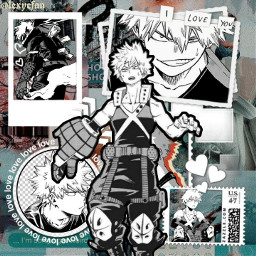 bakugo bakugou bnha bokunoheroacademia mha myheroacademia anime manga alt alternative freetoedit