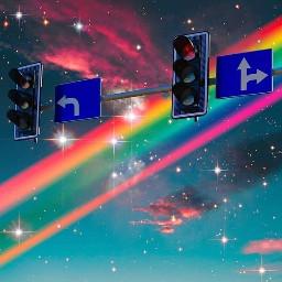 freetoedit aesthetic vibe pop glitters rainbow