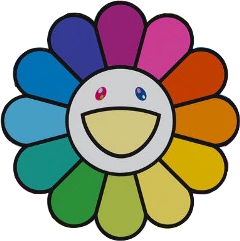 happyflower indie indiestyle aesthetic sticker rainbow flower indiekid indiesticker flowersticker rainbowflower shittysticker freetoedit
