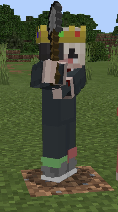 I'm about to murder someone   Person in pic: me  Person who took the pic: My friend Wilm   #ranboo #minecraft #axe