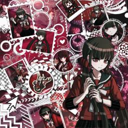 makiharukawa maki ultimatechildcaregiver ultimateassassin red asthetic astheticedit danganronpa danganronpav3 danagnronpaedit
