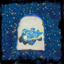 toast vanghoghart space midnight stars freetoedit ircmyfavoritetoast myfavoritetoast