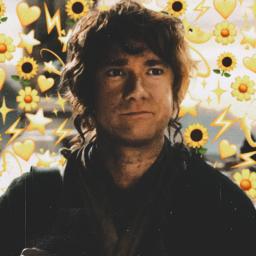 bilbobaggins thehobbit hobbit emojibackgrounds freetoedit