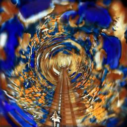freetoedit surreal wanderer remix blue