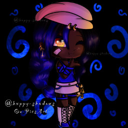 gacha gachalife gachaedit gachaclub edit edits cute pretty blue black dark light amazing awesome cool interesting fade swirl