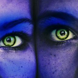 blue blueaesthetic greeneyes blueface edit girls bluegirl freetoedit