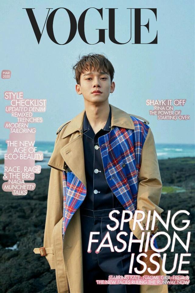 VOGUE Magazine 📰 . Model : Kim Jong Dae { Chen }. For Spark and Exo-l 💗. #voguemagazine#chenexo#spark#exol