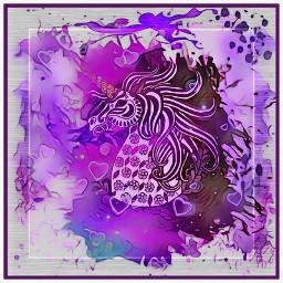splatterart splash splatterpaint unicorn drawing freetoedit