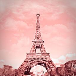 freetoedit paris effieltower tower pink roses rosey rosegold pinksky p aesthtic pinkaesthtic bacground bg pinkbackground