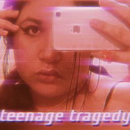 freetoedit teen teenage tragedy teenagetragedy typical aesthetic pink flashing blur blurred cutie selfie mirrorselfie vaporwave makeup eyeliner y2k early2000s interesting