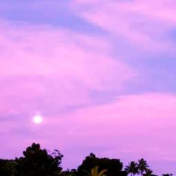 pinkclouds cottoncandysky moon myoriginalphoto freetoedit