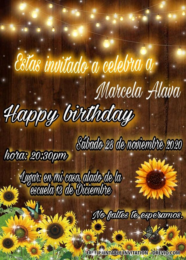 #girasol😍🌻 #invitation #cumpleaños
