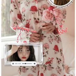 pinkaesthetic hintofred rose dripwear freetoedit