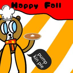 pumpkinpie pie art fall chef cook coat orange white blue plushiewrekshopers freetoedit