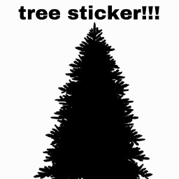 christmastree christmas christmassticker christmas2020 sticker silouette sillouette freetoedit