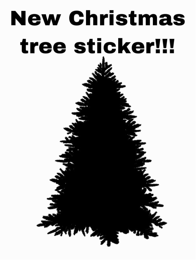 #christmastree #christmas #christmassticker #christmas2020 #sticker #silouette #sillouette