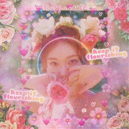 freetoedit chungha kimchunga chunghaedit kimchunghaedit ioichungha ioi ioiedit flower flowers floweraesthetic pink pinkaesthetic vintage vintageaesthetic kpop kpopedit