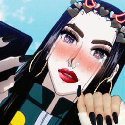selfie chicamala😈 diabla chicamala chicamala🖤👱♀️ illumizoldyck illumi hxh illumiasagirl illumidiabla collage fotomontage ripillumi anime animecollage freetoedit