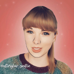 freetoedit pink pinky white aesthetic outline outlineart tayloralisonswift taylorswift folklore hair highlights