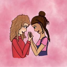 oc drawing art digitalart wlw girlfriends charlotte maia notfreetoedit donotremix dontsteal nostealystealy freetoedit