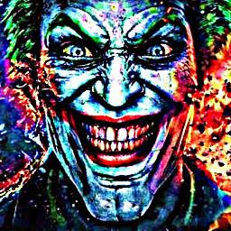 jocker joke freetoedit edit remix filter film character smile 🙂 ❤💚 💙❤ red grange green blue yellow purple punk jockerface jocker_edting follow black white batman