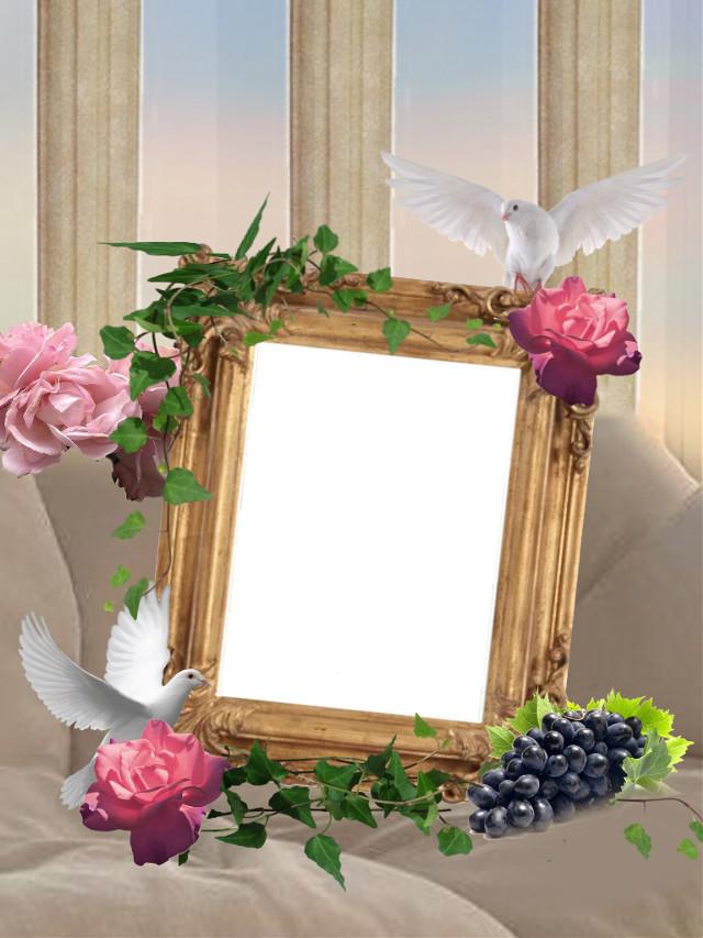 #mirror #pinkflowers #sunset #white #doves #greeks #vines #grapes #aesthetic #columns