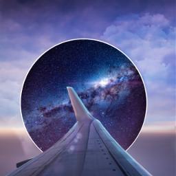 freetoedit galaxy sky plane travel gate light surrelisticgate clouds heypicsart inspiration stayinspired madewithpicsart unsplash