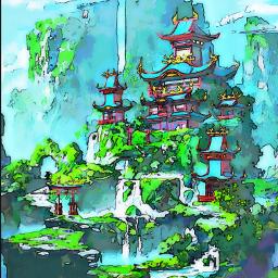 madewithpicsart remixit freetoedit torii japan temple mountains waterfall sky nature clouds water spirituality mystical martialarts meditation peace calm relaxing grass green floating