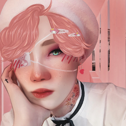 pink pastel chanhee pinkpunk punk soft edit theboyz chanheeedit theboyzedit eyepatch kpop kpopedit manip manipedit manipulationedit manipulation