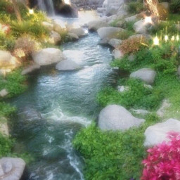 soft cottagecore aesthetic pic background magical fairies green moss rocks outside river water pretty cute aestheticpic aestheticbackground light