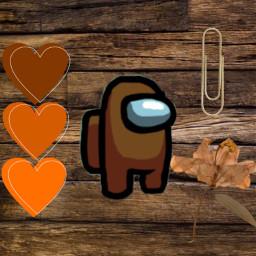 brown brownamongus heart brownheart hearts leaf brownleaf paperclip freetoedit