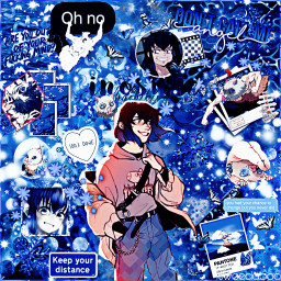 inosuke inosukehashibira demonslayer kimetsunoyaiba kny anime animeboy blue blueaesthetic blueanime swedaboo freetoedit