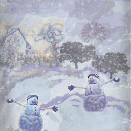 snowmen snowball picsart madewithpixlr fotor elvyrajones clownsinnersaint classicmissgenie54
