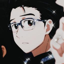 yuurikatsuki katsukiyuuri yuuri yurionice yurioniceyuuri yuri!!!onice anime animeicon icon animeicons animeboy animeboyicon freetoedit yuri