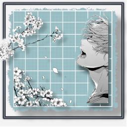 given anime mafuyu music aesthetic blue black white manga freetoedit