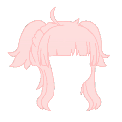 gacha club life gachalife cute hair pink pastel buns aesthetic ahoge kawaii adorable girl japanese salmon freetoedit