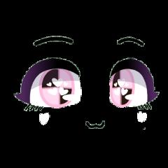 gacha gachalife gachaclub life club face eyes eyebrows mouth cute pink pastel black smile smiling happy softie cutie kawaii adorable girl loli freetoedit