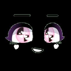gacha gachalife gachaclub life club face eyes eyebrows mouth cute aesthetic kawaii adorable pink pastel black smirk smile smiling hearts cutie softie girl tsundere freetoedit