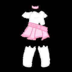 gacha gachalife gachaclub life club feminine girly pink pastel white cat socks skirt dress high cute adorable kawaii choker necklace girl clothes clothing crop top freetoedit