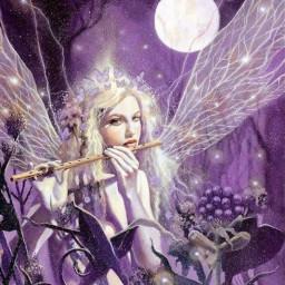 fairy purple freetoedit srcbutterfliescrown butterfliescrown