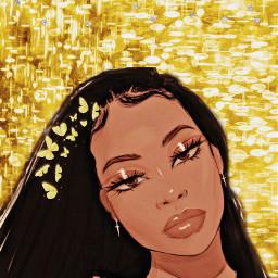 beautiful beauty gold butterfly sparkle freetoedit unsplash srcbutterfliescrown butterfliescrown