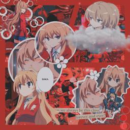 toradora red profilepic girl anime freetoedit